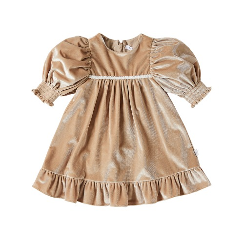 andree velvet dress beige - 마르마르